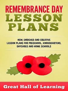 45 pages of new, enriched and creative ideas  for a week for the theme of Remembrance Day.  $4.99