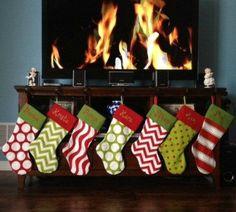Sale  2 PERSONALIZED CHRISTMAS STOCKINGS by Sweetlittlethings4u, $49.98