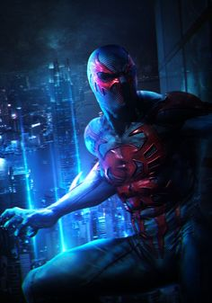 I did a Spider-Man Noir artwork last night, and so I thought I'd revisit the Spider-Man 2099 Sideshow edit I did a while back to revamp the Spider-Verse! Really enjoyed doing Spider-Man 2099 as his design is so cool :o Enjoy! Marvel Comic Universe, Comics Universe, Marvel Cinematic Universe, Marvel Comics, See Picture, Picture Video, Pulp Fiction Characters, Iron Man Tony Stark, Spiderman Art