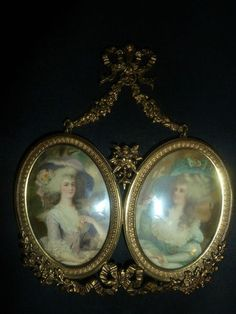 Antique French Gilt Dore Bronze Victorian Double Picture Frame | eBay