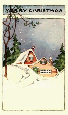 Free Printable Vintage Christmas Postcards                                                                                                                                                      More