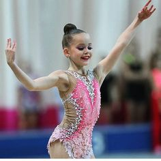 The beautiful Ulyana Travkina ✨ #rhythmicgymnastics #rsg #rg #leotard #gym #gymnast #beautiful #training #competition #smile #expression #sparkle #ulyana #travkina #russia #hoop #ball #clubs #rope #ribbon