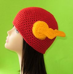 Flash Hat. Beanie. (Any Sizes: Newborn to Adult). Please send the size.