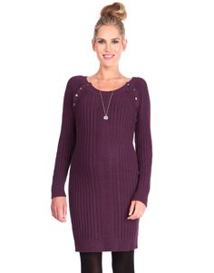 5521ee9f128 Seraphine Cable Knit Nursing Dress Maternity Nursing Dress