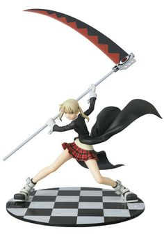 Announcing the first figure in the new Perfect Posing Products (PPP) series, Maka Albarn from Soul Eater! This scythe-wielding meister looks ready to strike with her partner, Soul Eater, in hand. Her intimidating and dynamic pose capture the bravery and strength of her character, while her outfit of pigtails, skirt ,and jacket shows her feminine, cute side. This figure is meticulously detailed, fr...
