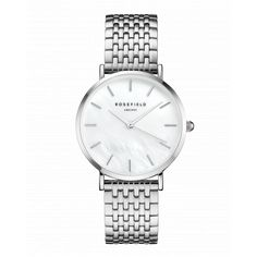 White - Silver women's watch - silver strap | The Upper East Side | Rosefield Watches
