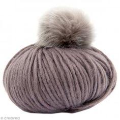 Kit Rico Design - Fashion super chunky - Bonnet à pompon au crochet - Gris
