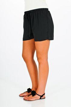 Bel Air Draw String Shorts - Black $33.99  http://www.kikilarue.com/bel-air-draw-string-shorts-black/