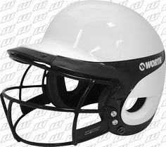 Worth Liberty Home Helmet,With mask White/Royal - deal coach Softball Gear, Fastpitch Softball, Liberty Home, Band Hoodies, Sweater Hoodie, Football Helmets, Lady, Makeup, Make Up