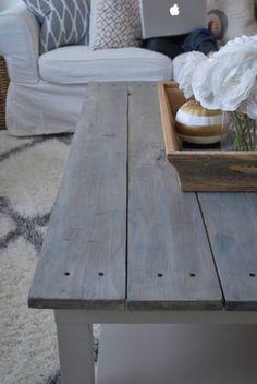 IKEA coffee table hack. Coffee table makeover tutorial painttheworldwhite.com