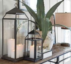 Create a candlelight display with our handsome steel Malta Lantern year-round. Each lantern can rest on a flat surface or hang. Pottery Barn Lanterns, Lanterns Decor, Decorating With Lanterns, Sunroom Decorating, Malta, Outdoor Candles, Bronze Finish, Home Lighting, Lighting Ideas