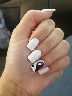 My Ying Yang nails •