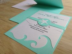 Beach Wedding Invitation Destination Wedding by TheFindSac