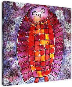 Wise owl man van db Waterman, op dibond, canvas, ingelijst of als poster.