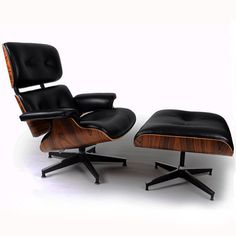 Eames Lounge Chair And Ottoman  Italian Leather by LuxuriousWood, $1240.00