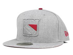 New York Rangers Heather League 59Fifty Fitted Baseball Cap by NEW ERA x NHL