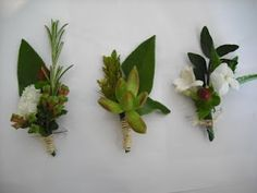 Rosemary in buttonholes