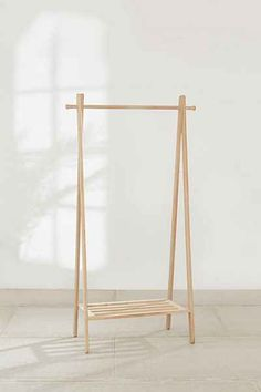 Wooden Clothing Rack at Urban Outfitters – Top Trend – Decor – Life Style Wood Clothing Rack, Diy Clothes Rack, Clothes Rack Bedroom, Wooden Clothes Rack, Wooden Rack, Clothing Storage, Fashion Catwalk, Kids Clothesline, Do It Yourself Organization