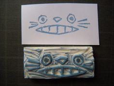 tampon visage Totoro fait main! 1