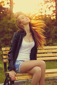Young, light, hair