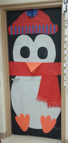 Classroom Door Decoration Penguin (12-27-13)