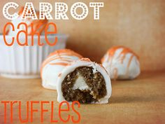 Carrot Cake Truffles!  I'm going to make these as a cool garnish for my Carrot Cake Martini: http://popartdiva.com/The%20Martini%20Diva/Martini%20Recipe%20Pages/Carrot%20Cake%20Martini.html