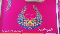 Computer Embroidery for Blouse. Please WhatsApp us on 9908955578 for Embroidery works. Cutwork Blouse Designs, Simple Blouse Designs, Blouse Neck Designs, Embroidery Blouses, Embroidery Neck Designs, Embroidery Works, Baby Lehenga, Hand Work Blouse Design, Designer Wear