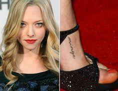 .Seriously love her tattoo. Makes me laugh.