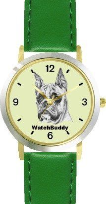 Boxer (SC) Dog - WATCHBUDDY® DESIGNER DELUXE TWO-TONE THEME WATCH - Arabic Numbers-EMERALD ISLE STYLE - Light Green Dial with Green Leather Strap-Children's Size-Small ( Boy's Size & Girl's Size ) WatchBuddy. $49.95. Save 38% Off!