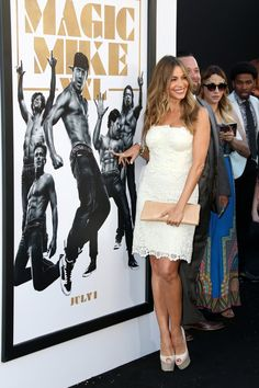 """Pin for Later: 11 Glorious Things That Just Happened at the Magic Mike XXL Premiere Sofia Vergara Was Like, """"This One's Mine, Teehee"""""""