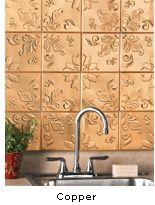 I love my pressed tin tiles in my kitchen!