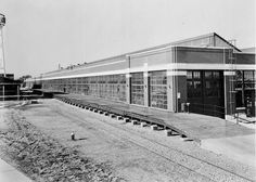 """The Ford Motor Co. plant opened in Old East Dallas, Texas in 1924 and dominated the Jubilee neighborhood for decades. In the 1930s, the Dallas plant put oval stickers in the rear windows of cars that read """"Built in Texas by Texas Labor."""" In 1947, the millionth Texas Ford automobile rolled off the line. But the plant layout became obsolete, and in 1970, the Ford plant shut down."""