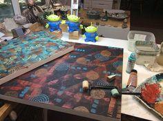 art #acrylicpainting #fortwayne #artist #studio #painting #workinprogress #suedavis