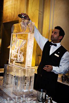 Ice Martini Luge Amber Aaron Lavish Wedding Planning Design Photo By Jt