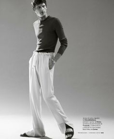 Roch Barbot Embraces Minimalism for Esquire España   Big Black Book image Roch Barbot Model 006 800x974