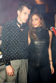 Stopped by: Nicole Scherzinger arrived late to Mark Ronson's album launch party on Friday