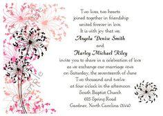 Cute Dandelion Invites