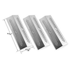 Hisencn 94641 Grill Replacement Stainless Heat Plate shield for Broil-Mate, Grill Pro, Sterling Gas Grill Models Bbq Parts, Grill Parts, Gas Bbq, Barbecue Grill, Stone Bbq, Aussie Bbq, Weber Bbq, Burner Covers, Grilling