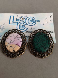 Broches camafeos