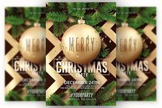 Christmas Party - Flyer Template by Creative Flyers on @creativemarket