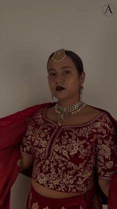 Red Lehenga, Bridal Lehenga Choli, Indian Lehenga, Choli Designs, Lehenga Designs, Deep Red Wedding, Lehenga Choli Online, Wear Red, Indian Attire