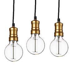 [Lux.Pro] 3x Hängeleuchte Lampenfassung Deckenleuchte Edison Retro Pendelleuchte
