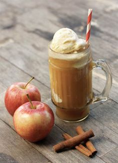I have some Schwan's Vanilla Ice Cream in my freezer that wants to be made into this Apple Cider Float Recipe! #Schwans #holidays #recipes