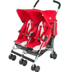 Maclaren Twin Triumph Scarlet - available in store and online at #FabBabyGear #Maclaren