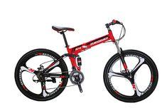 Sammenleggbar mountain bike G4 - rød Bicycles For Sale, Mountain Biking, Vehicles, Car, Vehicle, Tools