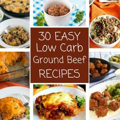 Delicious low carb ground beef recipes for easy weeknight dinners! These simple keto hamburger dishes are sure to please the whole family. Free Keto Recipes, No Carb Recipes, Beef Recipes, Easy Recipes, Dinner Recipes, Dessert Recipes, Hamburger Recipes Easy, Ground Meat Recipes, Hamburger Dishes