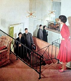 Dear Ms. Leigh: 1960's Housing Advertisements / stairwell lighting