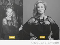 Now this is the way to grow less young gracefully. Inspiring. And man is she gorgeous!