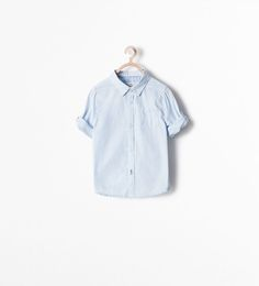 ZARA - COLLECTION SS15 - SHIRT WITH BUTTON TAB SLEEVES