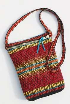 "Handwoven purse by Dianne Totten. Photo by Steve Newton. From the John C. Campbell Folk School weaving class - ""From evening bags to market bags."""